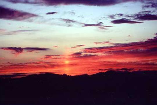 白樺高原夕陽の丘